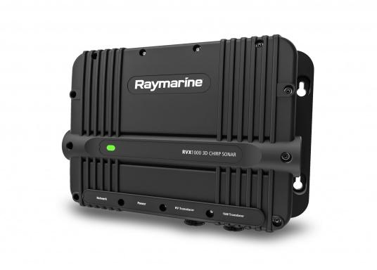 Das Sonarmodul RVX1000 von Raymarine verfügt über eine preisgekrönte und hochauflösende 3D Realvision Sonartechnologie, CHIRP Side and DownVision, sowie ein leistungsstarkes 1 kW Zwei Kanal CHIRP-Sonar.Die Blackbox ist somit eine vielseitige Lösung für das Fischen auf der Hochsee oder an der Küste.