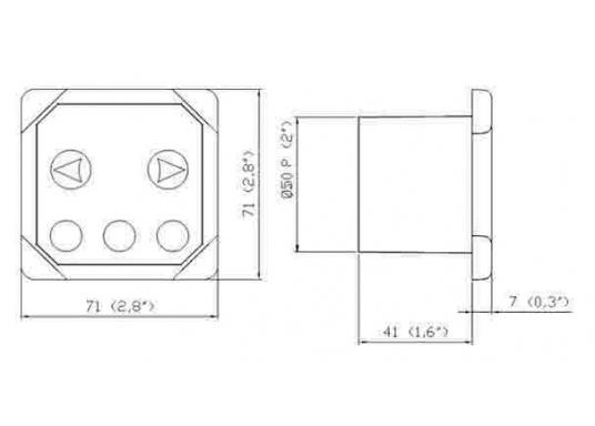 Originales und passendes Bedienpanel mit Tipptasten für die Bugstrahlruder von SIDE-POWER. Runde Einbauöffnung. Spannung: 12 oder 24 V. (Bild 6 von 7)