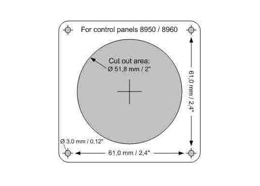 Originales und passendes Bedienpanel mit Tipptasten für die Bugstrahlruder von SIDE-POWER. Runde Einbauöffnung. Spannung: 12 oder 24 V. (Bild 7 von 7)