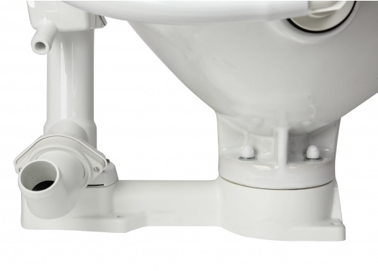 Das neue JABSCO Bord WC NEW STYLE mit manueller Pumpe steht für noch mehr Komfort. Neben dem großen Komfortbecken verfügt die Toilette über einen Soft Close-Deckel. Keramikbecken, massiver Sitz und Deckel, Unterteil und Pumpe bestehen aus weißem Duroplast-Kunststoff. (Bild 5 von 9)