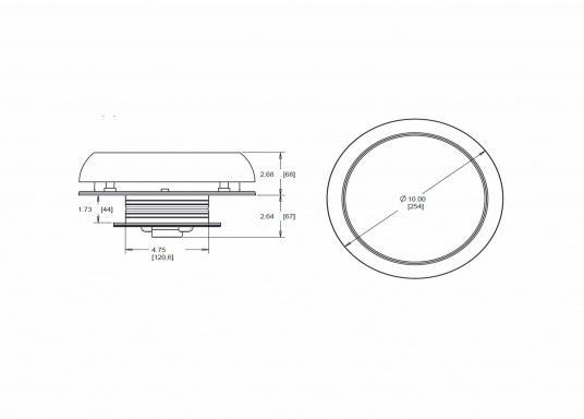 Jetzt wird die Solarenergie vollständig genutzt: der Ventilator DAY&NIGHTwird angetrieben und gleichzeitig wird ein eingebauter NiMh-Akku aufgeladen. Dieser Akku sorgt dann in der Nacht bzw. ohne Sonneneinstrahlung bis zu 24 Stunden lang für den Betrieb des Ventilators. Zusätzlich kann eine kleine helle LED in der Mitte der Lüfterunterseite als Orientierungslicht genutzt werden. (Bild 7 von 7)