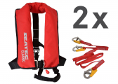 Life Jacket CLASSIC 165 / red / 165 N / set of 2 incl. lifeline
