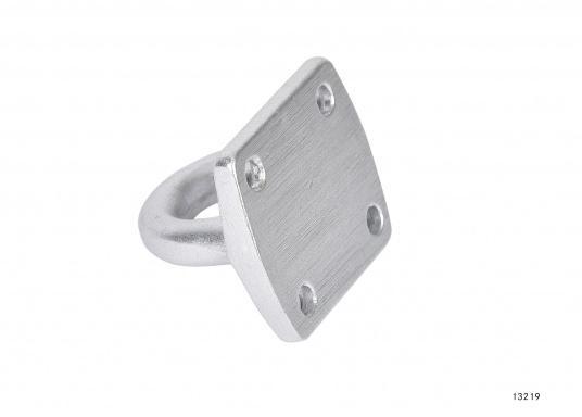 Augplatteaus Aluminium, geschmiedet. Maße: 40 x 35 mm.  (Bild 3 von 3)