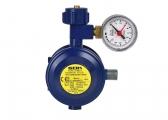 Regolatore di pressione gas con manometro, 30 mbar / angolare