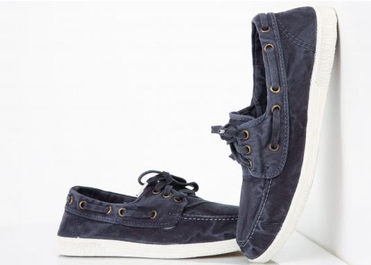 Der leichte Damenschuh Nautigo Einzimatico ist perfekt für die Freizeit geeignet! Durch die 3-Loch Schnürung, lässt sich der Schuh komfortabel an- und ausziehen und bietet gleichzeitig einen festen Sitz. Farbe: marine blau (Bild 5 von 6)