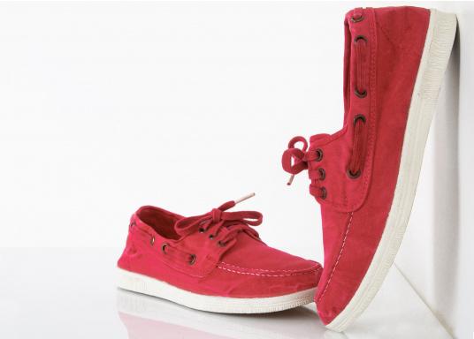 Der leichte Damenschuh Nautico Einzimatico ist perfekt für die Freizeit geeignet! Durch die 3-Loch Schnürung, lässt sich der Schuh komfortabel an- und ausziehen und bietet gleichzeitig einen festen Sitz. Farbe: magenta (Bild 4 von 6)