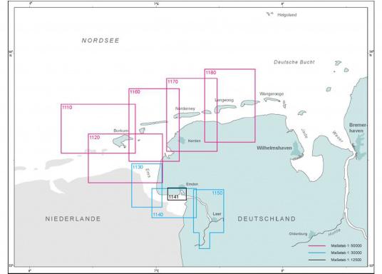 Die offizielle BSH-Sportbootkarte für Emsmündung, innerer Teil und Borkum bietet zuverlässige Informationen aus erster Hand!Lieferung der Karte im DIN A1 Format für den Einsatz auf der Yacht. (Bild 2 von 2)