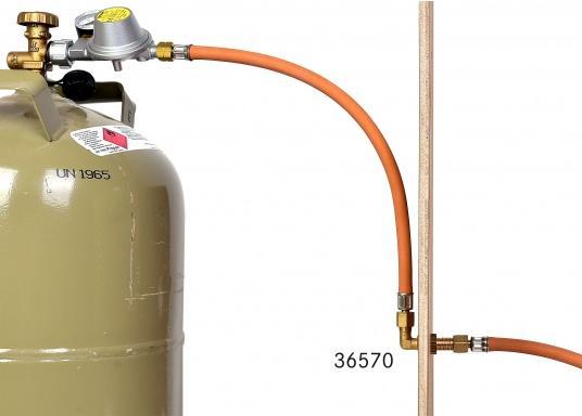 Raccords de gaz de cloison. Pour tuyaux de 8 mm  (Image 3 de 4)