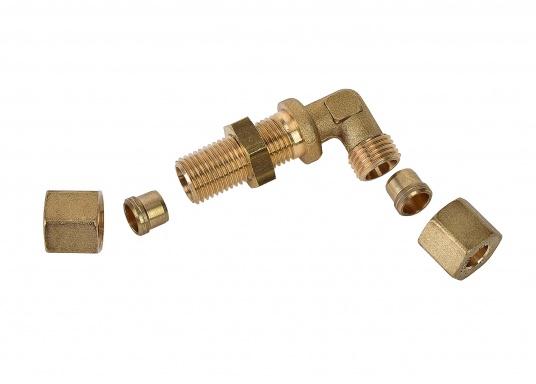 Raccords de gaz de cloison. Pour tuyaux de 8 mm  (Image 2 de 4)