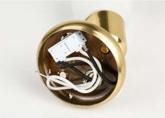 Zeitlos schöne Innenlampe, hergestellt aus polierten Messing mit weißemEchtglasschirm.  (Bild 2 von 2)