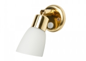FRILIGHT Interior Light, polished brass / white glass shade