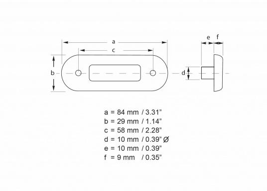 Étanche, extrêmement compacte, enjoliveur acier inox. Idéale sur les marches d'escalier, pour marquer les passages de secours ou en veilleuse. Pré-câblé avec 1,2 mètres de câble qualité marine. Multivolt™.   (Image 4 de 4)