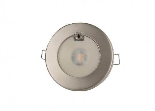LED Deckenleuchte mit rundem Rahmen,ausgestattet mit stoßfestem Diffusor. TED S ist zusätzlich mit EIN/AUS Hebel versehen.