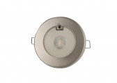 TED S LED Ceiling Light / Stainless steel, satin