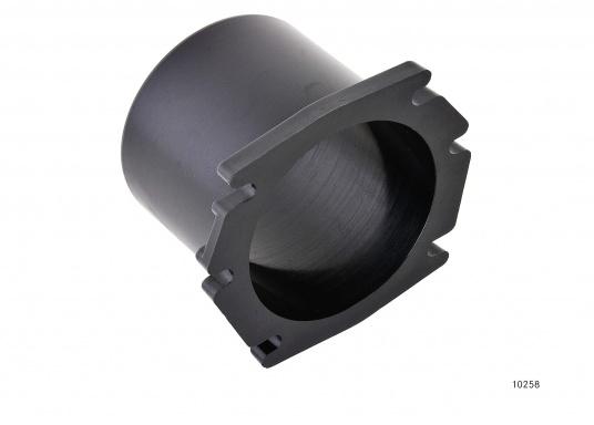 Lüfterstutzen für Durchschottmontage. Material: Kunststoff. Schwarz.