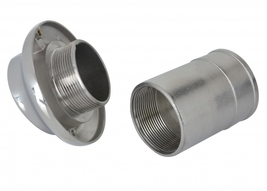 Aus hochglanzpoliertem rostfreiem Edelstahl AISI 316. Mit Gummirückschlagklappe. (Bild 3 von 8)