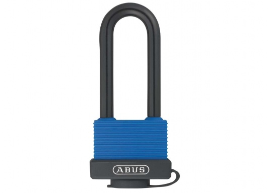 AQUASAFE is a padlock which is particularly suitable for securing boats and vehicles in extreme weather and environemental conditions. Drainage channels facilitate the removal of water.