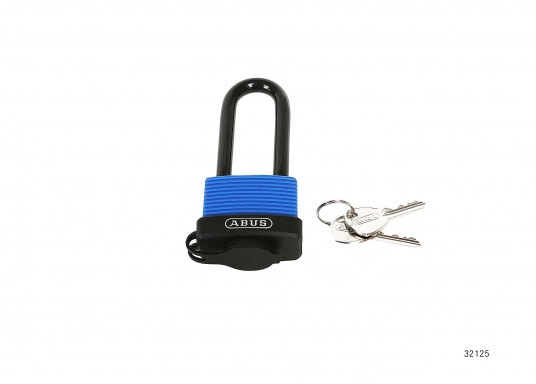 AQUASAFE is a padlock which is particularly suitable for securing boats and vehicles in extreme weather and environemental conditions. Drainage channels facilitate the removal of water.  (Image 4 of 4)