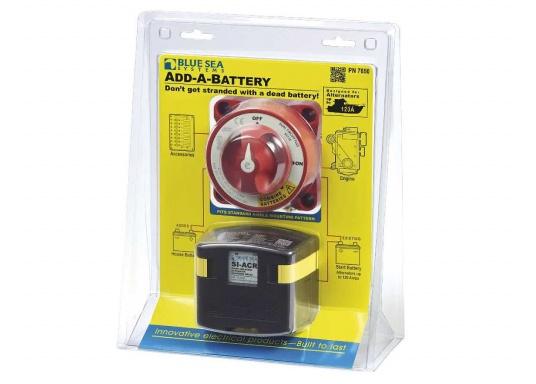 Das Upgrade für Ihre Schalt- und Ladesysteme. ADD A BATTERY erlaubt den Anschluss einer zweiten Batterie, vereinfacht das Umschalten und automatisiert den Ladevorgang. Verwendbar mit Generatoren mit120 Ampere. (Bild 7 von 8)