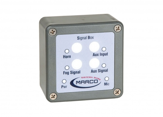 Approved sound signal systems with various signal options, also individual sound sequences can be entered manually. Available for boats from 20 to 70 meters. Includes microphone. Voltage: 24V. (Image 4 of 5)