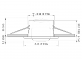 Plafoniera a LED- YOKO / Acciaio inossidabile satinato