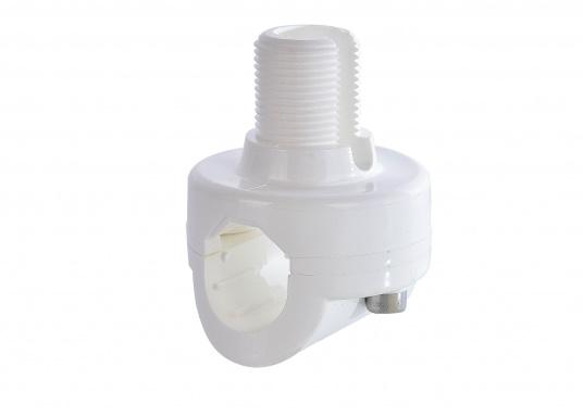 """Antennenhalter zur Einstellung eines jeden Antennenwinkels. Passend für alle Antennen mit 1""""x14 UNS-Gewinde. Auch für GPS-Antennen geeignet.  (Bild 2 von 2)"""