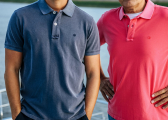 ANDRE Men's Polo Shirt / navy blue