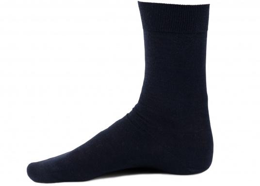 Leichte und dünne Socken aus 100 % Wolle (Merinowolle). Farbe: navy. (Bild 3 von 3)