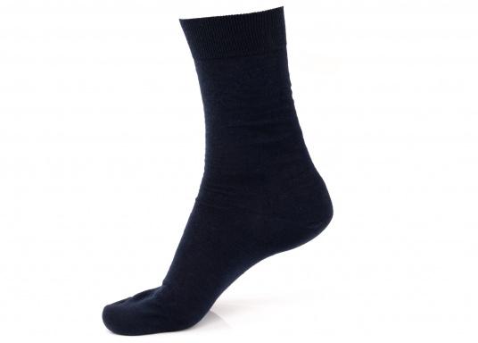 Leichte und dünne Socken aus 100 % Wolle (Merinowolle). Farbe: navy.