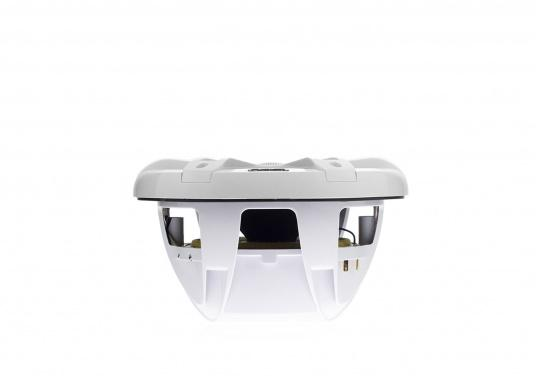 """FUSION's SG-CL77SPW 7.7"""" loudspeakers, specially designed and developed for use on board the ship, deliver functional acoustic elegance and an unparalleled listening experience on the water. With two-colour LED backlight. Supplied in pairs. Peak power: 280 watts. Colour: white. (Image 8 of 9)"""