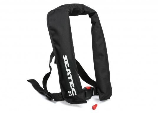 The new GO lifejacket from Seatec is fitted with an automatic trigger and is extremely comfortable to wear.