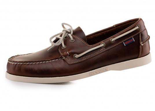 Docksides Men S Boat Shoe Waxed Leather Brown