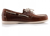 DOCKSIDES Men's Boat Shoe / Waxed Leather Brown