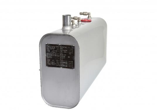 Hochwertige Edelstahltanks! Diese Tanks aus rostfreiem Edelstahl (AISI 316) werden handpoliert und druckgeprüft. Mit CE-Zulassung. Lieferbar in verschiedenen Größen.