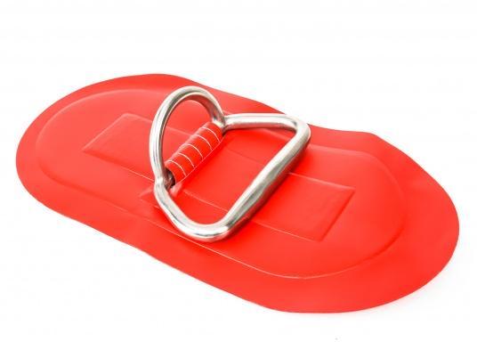D-Ringe mit Handgriff für Ihr SEATEC Schlauchboot. Farbe: rot. Abmessungen: 25 x 13,5 cm.