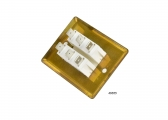 Flush-Mounted Switch, Dual / Polished Brass