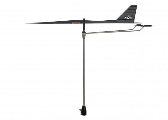 This wind direction indicator features a very light, extremely sensitive wind vane. Available in different versions.