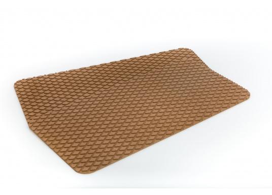 Antirutsch-Pads mit Rombenstruktur und praktischer, selbstklebender Beschichtung auf der Rückseite.Lieferbar in der Farbe:braun, jeweils in verschiedenen Größen. Packungsinhalt: 2 Pads.  (Bild 6 von 7)