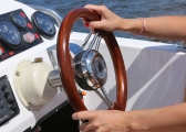 Steering Wheel V21, Teak / for Compact-T Steering