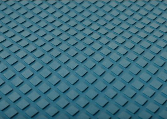 Hochwertiger Antirutsch-Belag, hergestellt aus einem Gummi- / Kork-Verbundwerkstoff. Farbe: blau.
