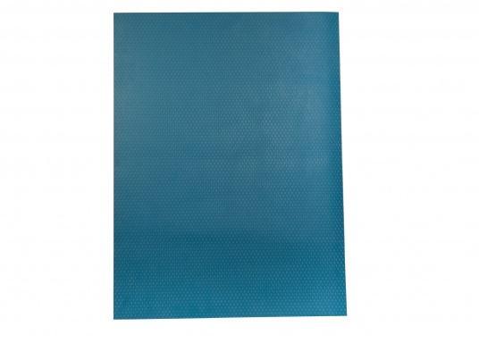 Hochwertiger Antirutsch-Belag, hergestellt aus einem Gummi- / Kork-Verbundwerkstoff. Farbe: blau.  (Bild 2 von 3)