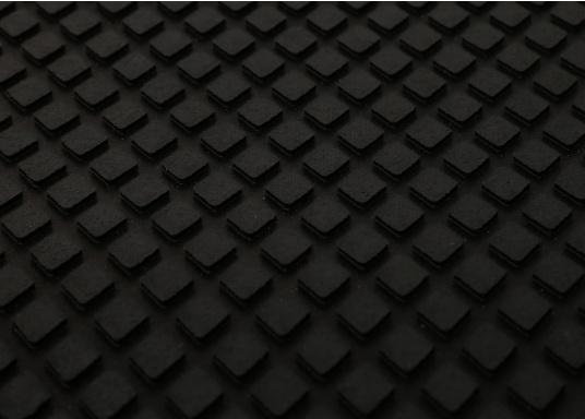 Ce revêtement anti-dérapant en composite caoutchouc / liège est disponible en noir.