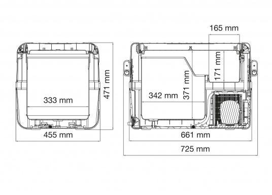 Hightech-Kühlung im Heavy-Duty Gehäuse!Die KompressorboxCFX-50 bieten Normal- und Tiefkühltemperaturen von bis zu -22 °C und das bei Energieklasse A++.  (Bild 4 von 4)