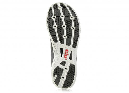 La chaussure de pont pour les sportifs à bord. La semelle de très haute tenue et antidérapante de Gill vous permet de les utiliser par toutes les conditions de temps. facile à chausser et à enlever. Plusieurs pointures sont disponibles. Couleur : graphite (Image 4 de 5)