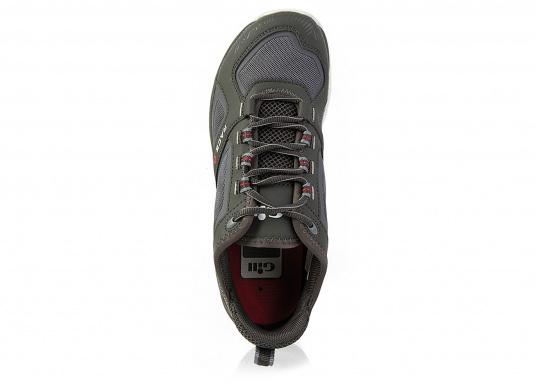 La chaussure de pont pour les sportifs à bord. La semelle de très haute tenue et antidérapante de Gill vous permet de les utiliser par toutes les conditions de temps. facile à chausser et à enlever. Plusieurs pointures sont disponibles. Couleur : graphite (Image 3 de 5)