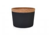 Image of STORE & STACK Bamboo Containers / black carbon