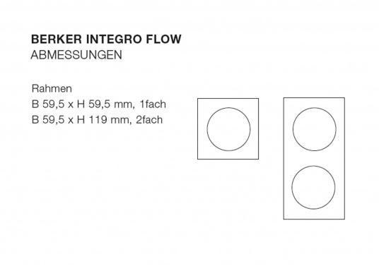 Einbauprogramm für höchste Ansprüche –modernes Design, schneller Einbau, kompakte Abmessungen. Ausführung: 2-fach.  (Bild 2 von 2)