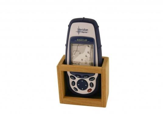 GPS-Halter aus Teak.  (Bild 2 von 2)