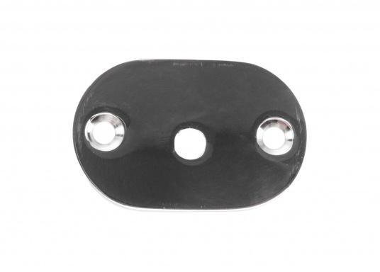 Passende Gegenplatte für Ihren eleganten Edelstahlhandlauf. Der Lieferumfang besteht aus einer Platte inklusive einer Schraube M6 x 16 mm. (Bild 2 von 3)