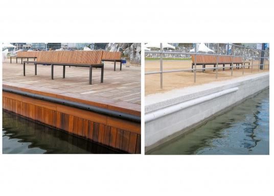 Nie wieder Kratzer am Boot! Die PVC Stegfender schützen Ihr Boot vor Beschädigung und sorgen für eine gute, geräuschlose Stoßdämpfung beim Anlegen.  (Bild 3 von 3)